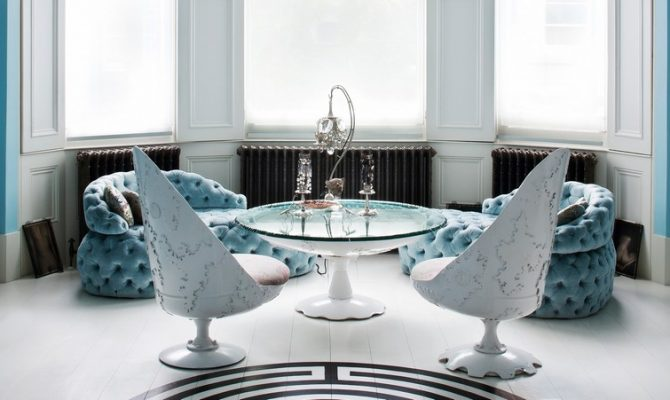 "The Apartment Of Designer Danielle Moudaber | The entire place is inspired on the theme ""under the sea"". #interiordesign #oceandecor #londonhouse #londondesign victorian apartment The Victorian Apartment Of Designer Danielle Moudaber Danielle Moudaber 3 670x400  Home Page Danielle Moudaber 3 670x400"