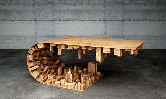 Discover a Cityspace Inside a Coffe Table | This coffee table was inspired by an incredible well-known movie, starring Leonardo DiCaprio as the principal actor, called Inception. #coffeetable #centertables #livingroomdesign coffe table Discover a Cityspace Inside a Coffe Table Featured 2 670x400  Home Page Featured 2 670x400