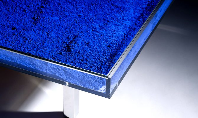 Yves Klein Creates an Outstanding Coffee Table Design | Yves Klein was the most influential, prominent, and controversial French artist to emerge in the 1950s. #coffeetable #centertable #interiordesign #homedecoration coffee table design Yves Klein Creates an Outstanding Coffee Table Design featured 2 670x400  Home Page featured 2 670x400