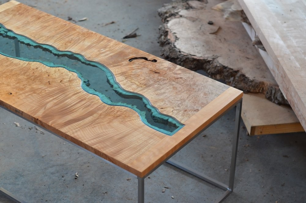 Greg Klassen The Creator of Handmade Pieces And Works of Art | Incredible coffee table designs created by this unique vanguardist mind. #interiordesign #homeinteriors #centertables #coffeetables handmade pieces Greg Klassen The Creator of Handmade Pieces And Works of Art MAPLE BURL 2